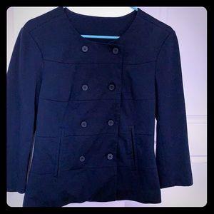 Vero moda navy cotton blazer